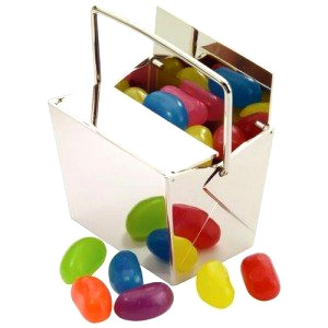 Metal box with jelly beans