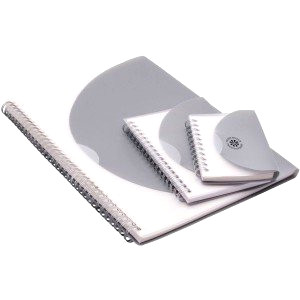 Spiral bound notepad with plastic cover