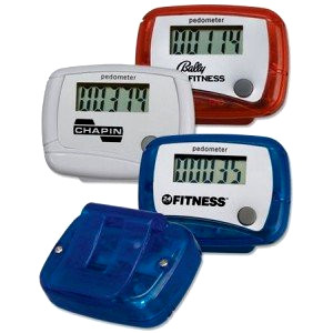Mixed colour pedometers