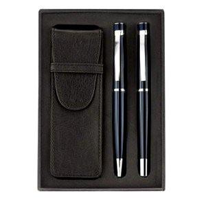 Pen set in leather wallet