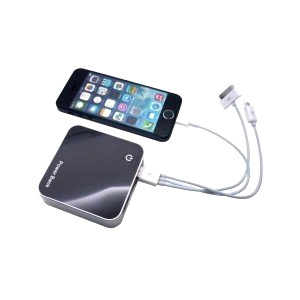 Power bank with phone and cables
