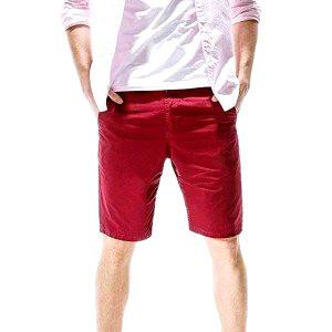 Red mens shorts