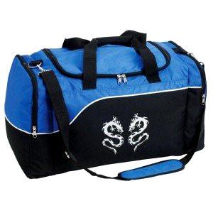 Blue and black sports bag