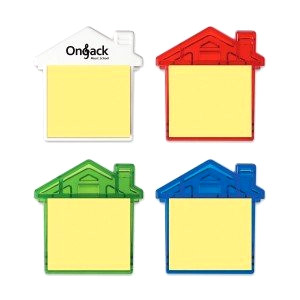 4 house shaped sticky note dispensers