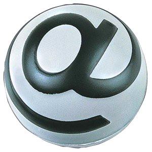 Stress ball with @ symbol