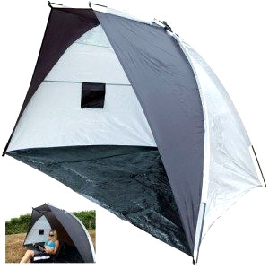Open sided beach tent